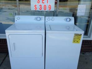 >>>GE WASHER & DRYER SET LIKE NEW W/WARRANTY<<<